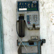 An old public telephone coin at downtown — Stock Photo #15485411