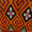 Traditional motifs woven details on the accessories Toraja Indonesia — Stock Photo