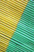 Two color diagonal on bamboo curtain — Stock Photo