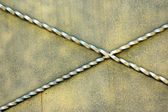 новые стены металла голди — Стоковое фото