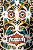 Ornaments in traditional tribal carvings — Stock Photo