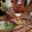 Stock Photo: Indonesitraditional Javanese wedding ceremony