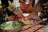 Indonesian traditional Javanese wedding ceremony — Stock Photo