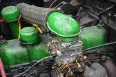 Green car engine — Stock Photo