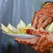 Henna On Hands Of Indonesian Wedding Bride — Stock Photo