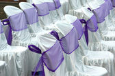 Decorative cloth wrapping seats — 图库照片
