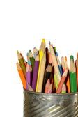 Used colored pencils — Stock Photo