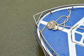 A speedboat at anchor — Stock Photo