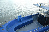 Blue boat — Stock Photo