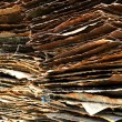 Stack of rusty iron plate — Stock Photo #41966039