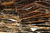 Stack of rusty iron plate — Stock Photo