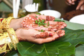 Henna On Hands  — Stock Photo