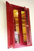 Red windows — Stock Photo