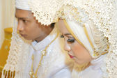 Indonesian bridal couples — Foto Stock