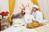 Indonesian bridal couples — Stock Photo