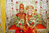 Indonesian bridal couples — Foto de Stock