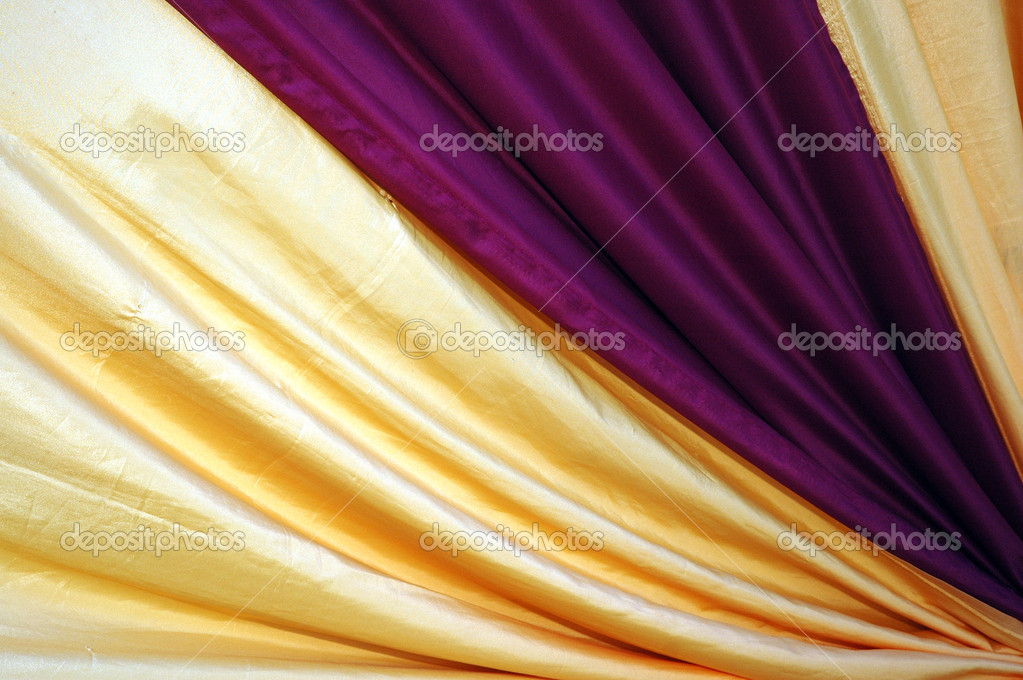 Beautiful decoration with purple and golden yellow color - Combination with purple color ...