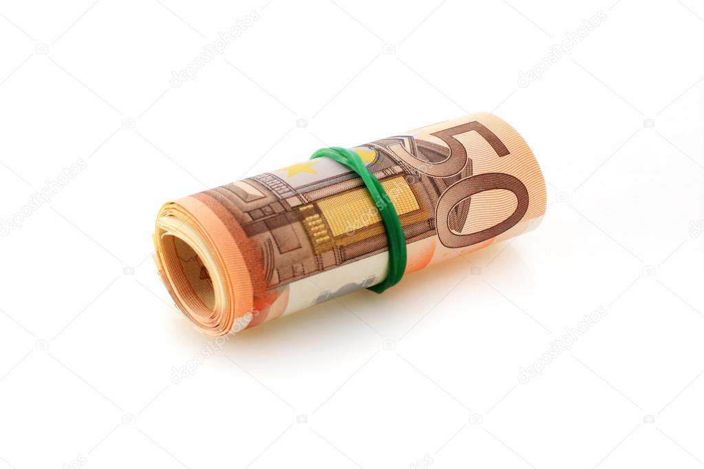 Euro money isolated over white background. — Stock Photo #15486637