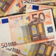 Stock Photo: Euro money background.