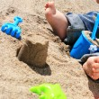 Baby on the beach. — Stock Photo