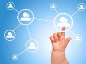 Sosyal ağ kavramı. — Stok fotoğraf