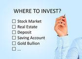 Dove investire il concetto. — Foto Stock