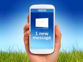 New message. — Stock Photo