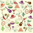 Mexican seamless pattern — Stock Vector
