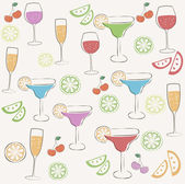 Cocktail party pattern — Stock Vector