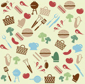 Barbeque pattern — Stock Vector