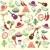 Mexican seamless pattern — Vecteur