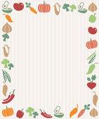Vegetables frame — Stock Vector