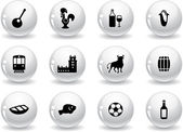 Web buttons, portuguese icons — Stock Vector