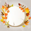Autumn greeting card with place for text — Stock Vector #16201431