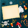 Halloween card with place for your text — Vettoriali Stock