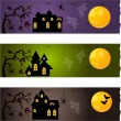 Halloween banners — Vector de stock #16201487
