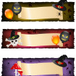 Halloween banners — Stock Vector #16201491