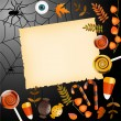 Halloween card with place for your text — Imagen vectorial