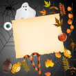 Halloween card with place for your text — Vector de stock