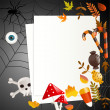 Stock Vector: Halloween card with place for your text