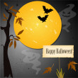 Halloween card with place for your text — Vector de stock #16201525