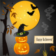 Halloween card with place for your text — Stockvector #16201527