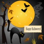 carta di Halloween con posto per il vostro testo — Vettoriale Stock