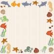 Frame with sea life — Stock Vector #16201597