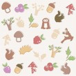 Vector de stock : Woodland pattern