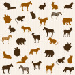 Animal seamless pattern — Stock Vector