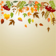 Autumn greeting card with place for text — Stock Vector