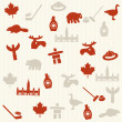 Canadian seamless pattern — Stock Vector