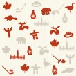 Stock Vector: Canadian seamless pattern