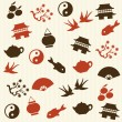 Asian seamless pattern — Imagen vectorial